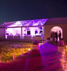 Elle Brannon Wedding exterior lighting