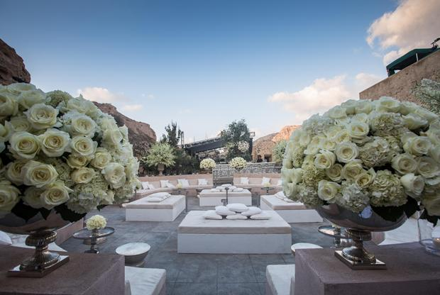 Luxury wedding in Santorini designed by Invisible Blue