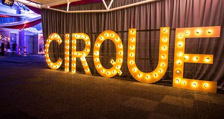 Invisible Blue create a circus theme party at Billingsgate