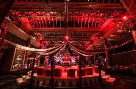 Circus theme party created by Invisible Blue at Old Billingsgate