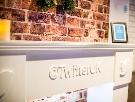 Twitter Fireplace created and designed by Invisible Blue