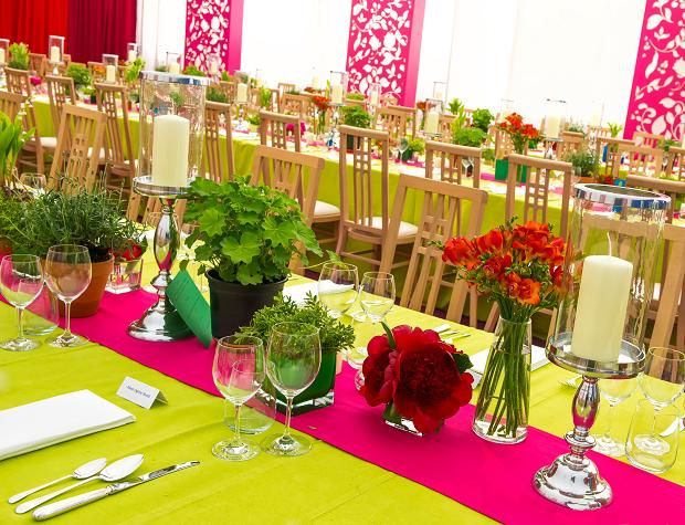 Vibrant Colour Marquee