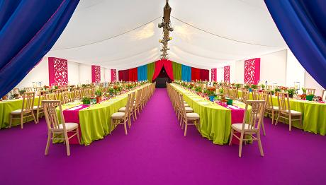 Vibrant Colourful Marquee