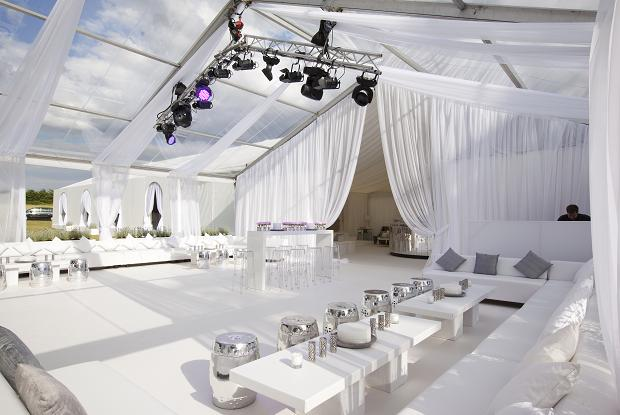 Romantic marquee wedding