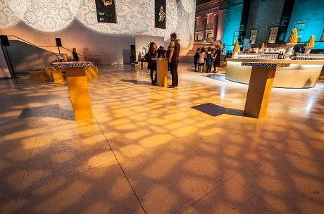 Event Furniture at British Museum created and designed by Invisible Blue